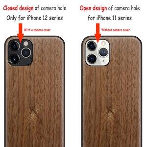 Image 5 - Carveit עץ כיסוי רך קצה בחזרה מקרים עבור iPhone 12 7 8 בתוספת מיני 11 פרו מקסימום X XS XR SE 2020 אביזרי טלפון מגן גוף