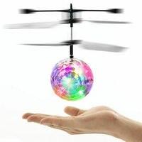 Bola voladora de juguete con Sensor LED para niños, Helicóptero De Control Remoto de inducción infrarroja, OVNI, Control manual, Dron RC