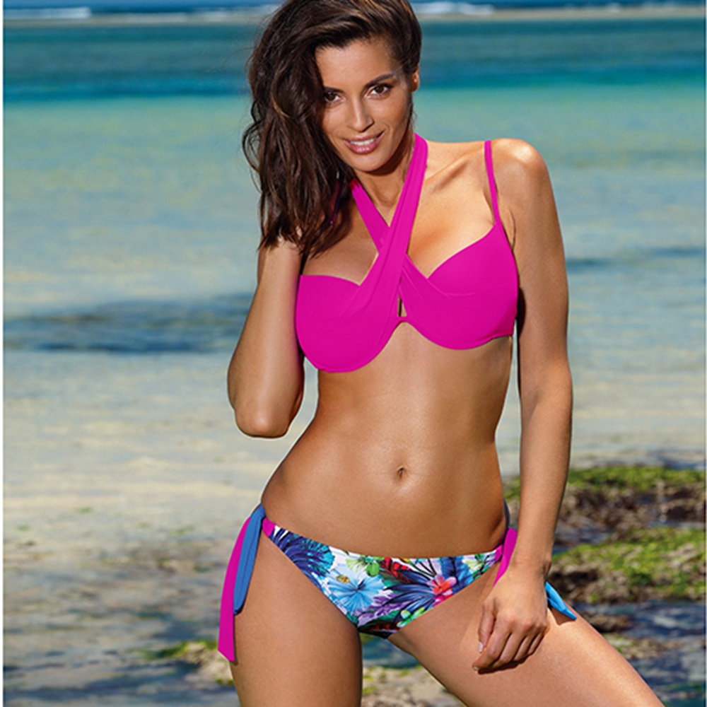 2020 Sexy Bikini Swimwear Women Push Up Swimsuit Bikini Set Brazilian Summer Cut Out Beach Bathing Suits female Biquini Print