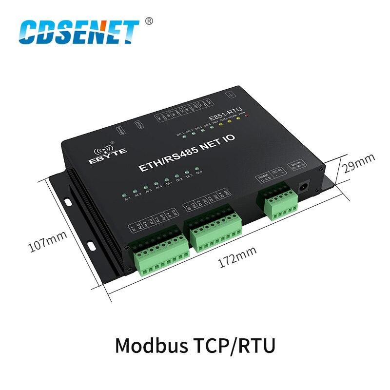 Ethernet RS485 12 Way Network IO Controller Modbus TCP RTU Analogico Digitale di Uscita A Relè Ingresso Master Slave Presa di Collegamento - 2