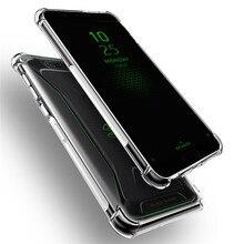 цена на For Xiaomi Black Shark 2 Pro Case Transparent Silicone Case Soft TPU Clear Shockproof Cover For Xiaomi Black Shark 2 Back Cover