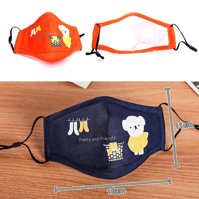 1Pcs Bear Face Mouth Mask Reusable Breathable Cotton Protective Children Kid Cartoon Cute PM2.5 Anti-Dust Mouth Face Mask 3