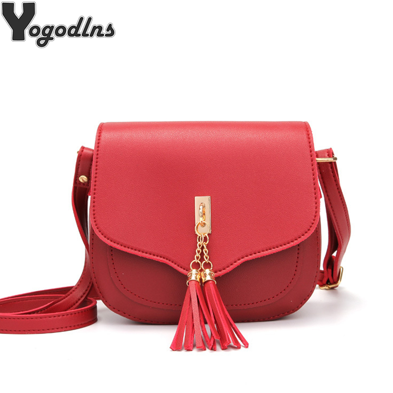 Small Crossbody Bag for Women PU Leather Ladies Handbags Women/'s Fashion Shoulder Bag Messenger Bag Purse with Tassel