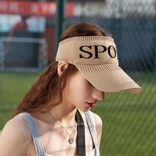 Summer Women Empty Top Sunshade Hat Breathable Duck Tongue Visors Outdoor Warm Travel Sports Adjustable Golf Sunscreen Caps