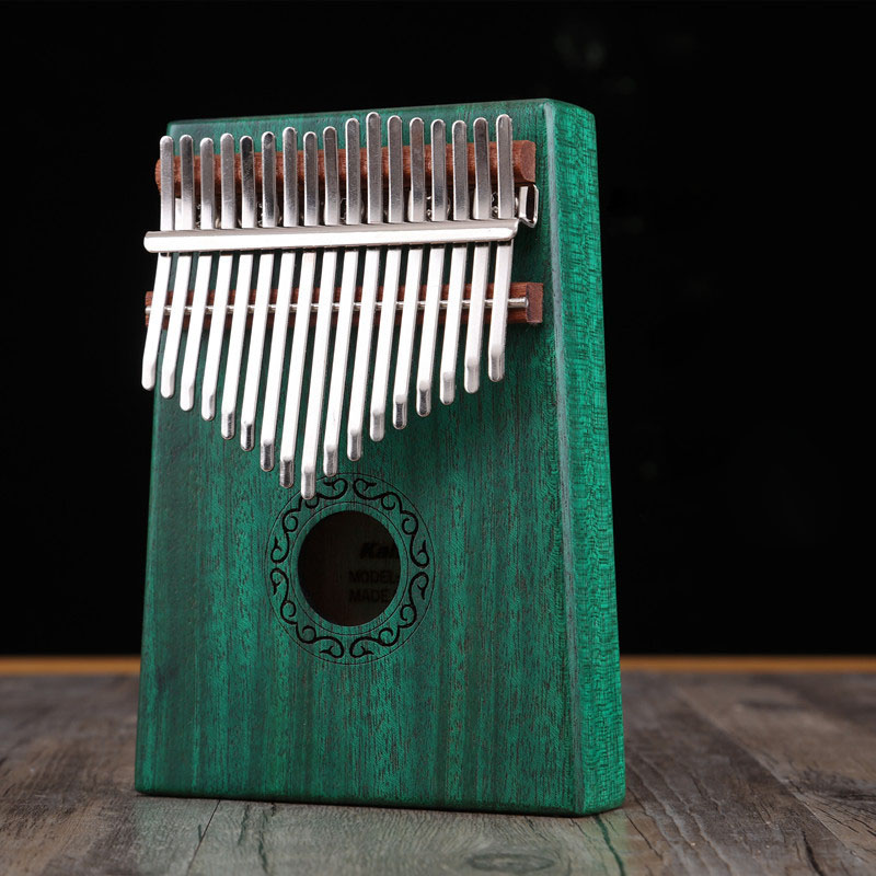 Kalimba 17 Key African Solid Mahogany Thumb Finger Piano Sanza Wood Mbira