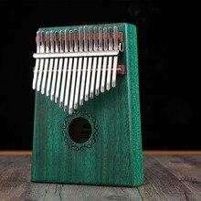 цены Kalimba 17 Key African Solid Mahogany Thumb Finger Piano Sanza Solid Wood Kalimba Mbira Thumb Kalimba