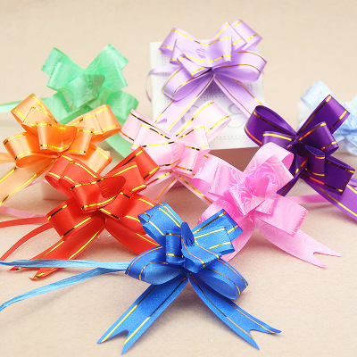 400pcs Pull Bow Ribbons Gift Wrapping Happy New Year Wedding Birthday Party Supplies Home Decoration DIY Pull Flower Ribbons