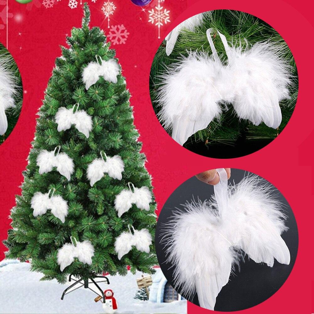 10 шт., белые Винтажные Украшения для новогодней ёлки