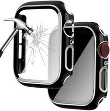 Case for Apple Watch Screen Protector with Built-in Tempered Glass Ultra-Thin All-Around iWatch Full Cover Protective Case
