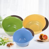 3 Piece Salad Bowl Set Plastic Mixing Bowls Reusable Plastic Bowls Washable BPA Free Cereal Box Salad Fruit Dessert Snack New