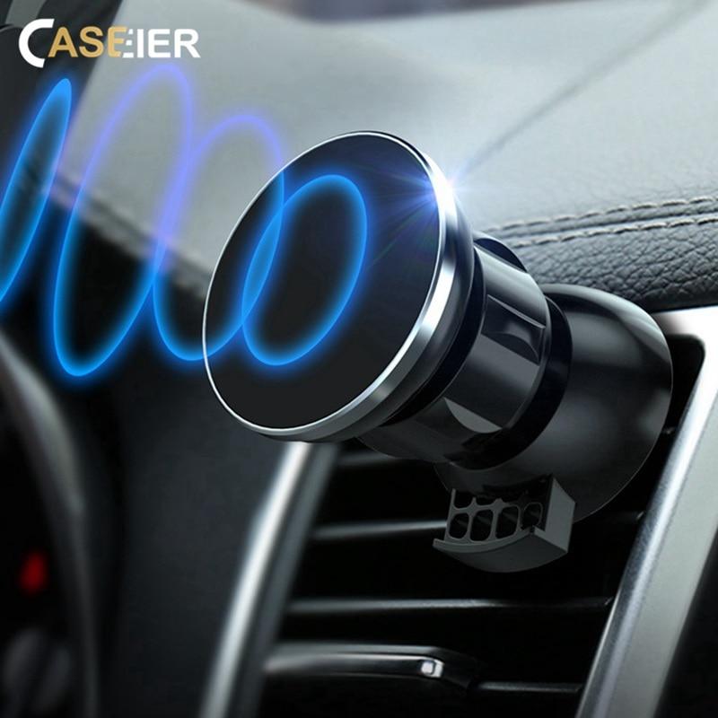 CASEIER Ultra Magnetic Car Phone Holder Air Vent Mount Magnet Car Holder For Your Mobile Phone Stand Suporte Celular Ppara Carro