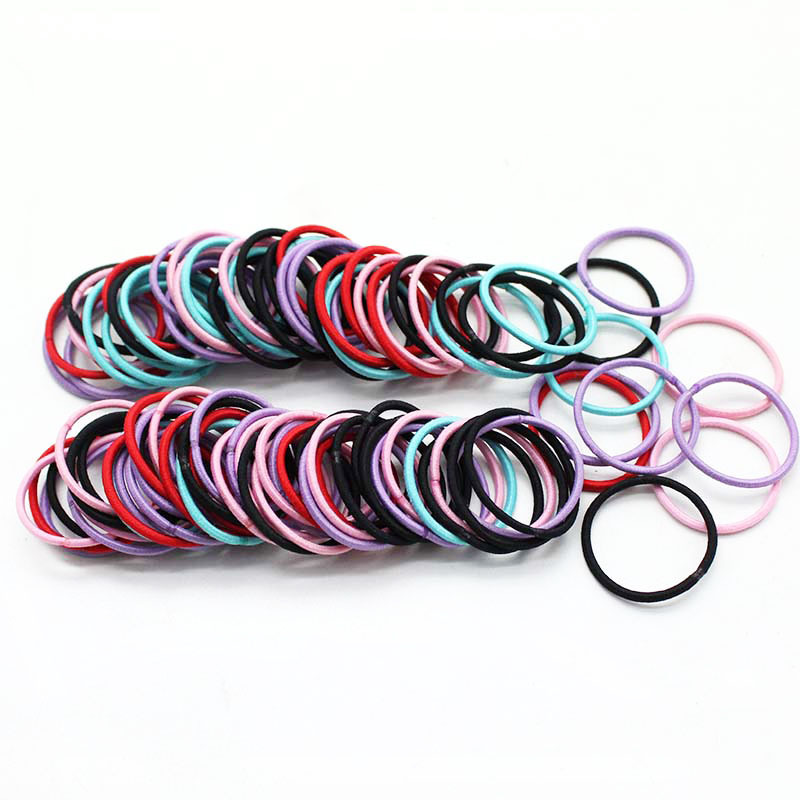 100Pcs/Set Girls Elastic Hair Band Baby Hair Accessories Colorful Ponytail Holder Rubber Band Hair Ropes Things Baby Haarband