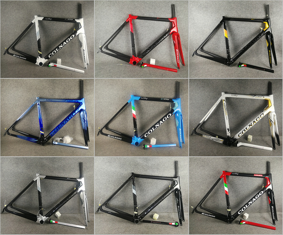 Bicycle-Frameset Carbon-Road-Frame T1100 Colnago C64 UD Gloss with 54/56cm for Your-Selection