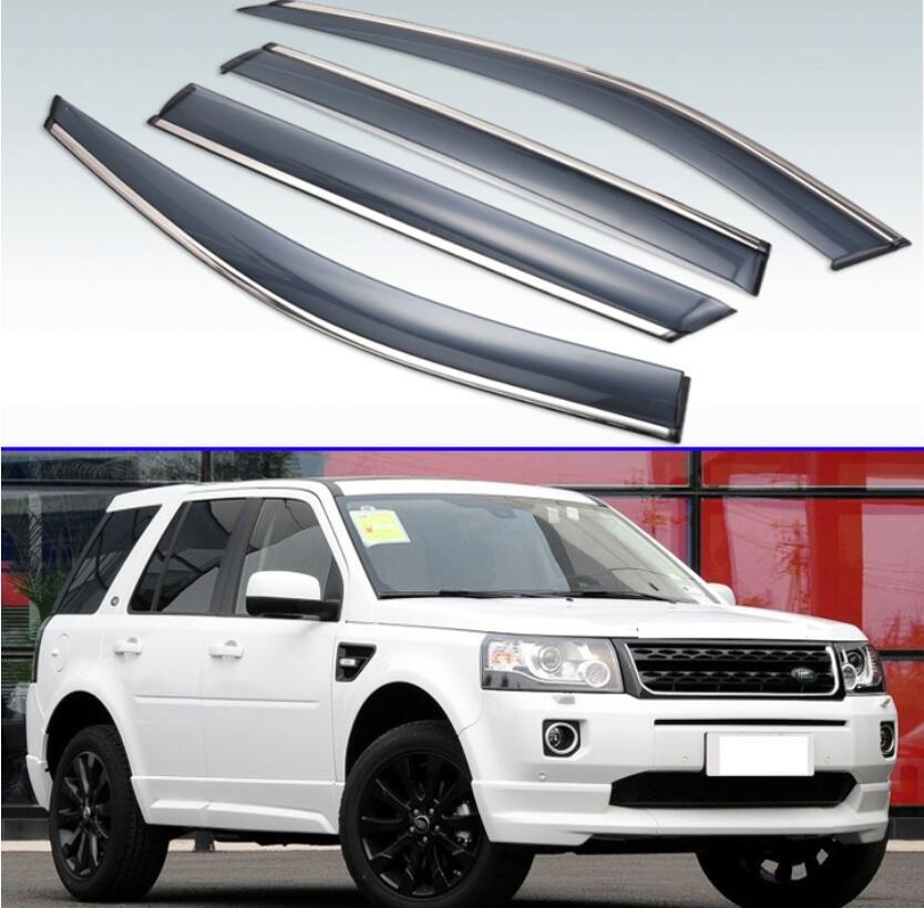 For Land Rover Freelander II Window Side Visors Sun Rain Guard Vent Deflectors