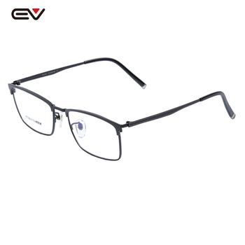 Pure Titanium Eyeglasses Frames Clear Lens Rectangle Glasses 56mm-18mm-145mm Mens Business Light weight Optical Frame
