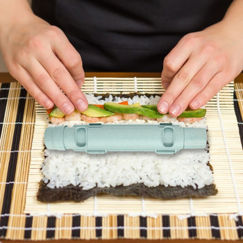Kitchen Gadgets Sushi Maker Roller Rice Mold Bazooka Vegetable Meat Rolling Tool for Household Kitchen Easy Supply image