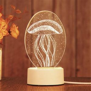 Image 5 - 만화 3D 참신 빛 LED 조명 2019 새로운 도착 어린이 아기 어린이 침실 램프 부드러운 빛 생일 선물 밤 램프