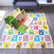 Esteira do jogo do bebê dobrável xpe quebra-cabeça brinquedos crianças tapete 1cm espessura rastejando almofada crianças desenvolvendo esteiras para a atividade dos jogos da criança