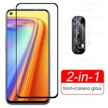Protetores de lente da câmera para oppo realme 7 telefone vidro protetor em realme7 realmi 7 6.5 cover film tela do telefone filme guarda capa