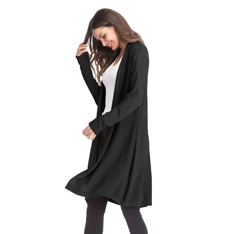 Fashion Woman Poncho Cape Autumn New Knit Jacket Female Solid Color Long sleeved Cardigan Womens Poncho Feminino Inverno 2019