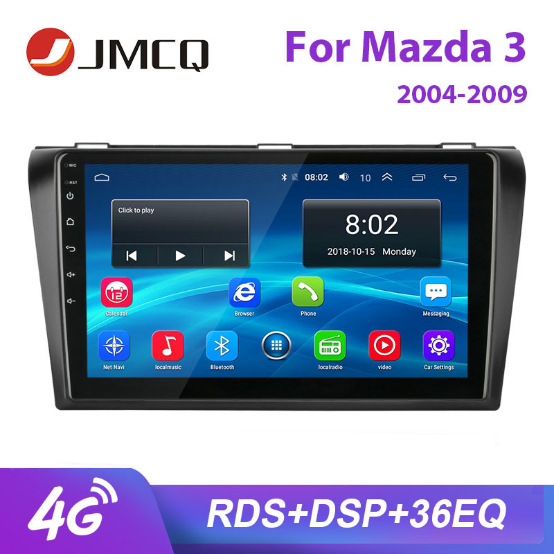 JMCQ 9 For Mazda 3 2004-2009 car radio RDS DSP Android player GPS Navigaion Multimedia Bluetooth Video Player Stereo with Frame image