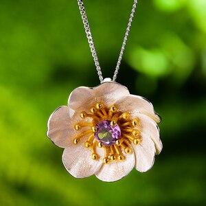 Image 3 - LotusสนุกBlooming Anemoneดอกไม้จี้สร้อยคอเงินแท้ 925 ทำด้วยมือเครื่องประดับสำหรับผู้หญิง