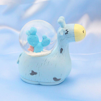 Nordic Cute Fawn Crystal Ball Decoration Crafts Snow Globe Figurines Miniature Model Resin Ornament For Home Decor Accessories