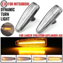 Blinker Lampe LED Für Mistubishi Outlander Sport Mirage Sport Lancer Evolution X Licht Auto Dynamischen Seite Marker Blinker