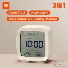 Xiaomi Qingping BT ساعة منبه, ساعة شاومي Qingping BT منبه مراقبة درجة الحرارة والرطوبة ضوء ليلي 3 في 1 ساعة متعددة الوظائف تعمل مع تطبيق Mijia CGD1
