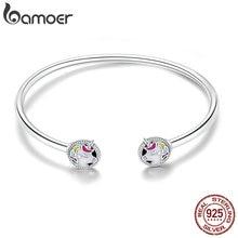 Bamoer nova chegada 925 prata esterlina colorido esmalte feminino pulseiras pulseiras para mulher prata esterlina jóias scb082