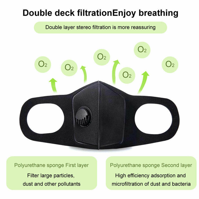 1/5/10/20/50 pcs Anti-fog Dust Filter Breathing Valve Face Mask Windproof Mask for Outdoor Motorcycle Riding 2