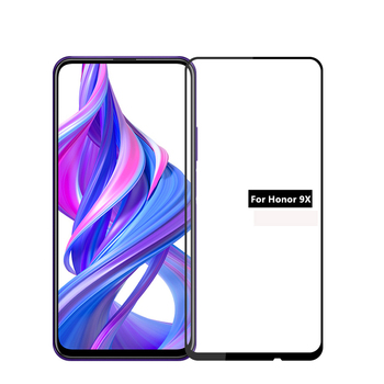 15PCS Screen Protectors For Huawei Honor 9X Pro Honor8X 7X 8X 8C 8A Tempered Glass HD Full Glue Full Protective Cover Hard Film
