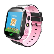 цена на Children Smart Watch Q02 Camera Lighting Touch Screen SOS Call  LBS Tracking Location Finder Kids Baby Smart Watch For Android