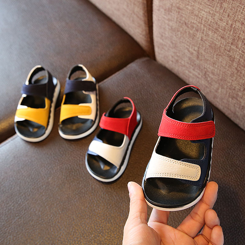 Baby New Summer Children Sandals For Little Boys Flats Beach Shoes Kids Casual Student Leather Sandals 2020 2 3 4 5 6 8 Years