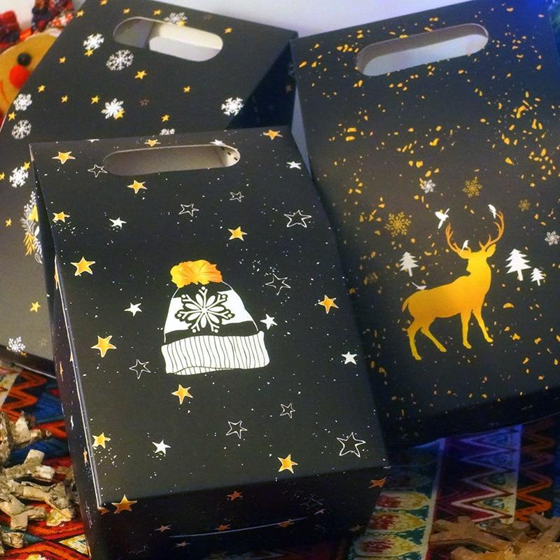 Candy Bag Night Sky Deer Paper Bag Christmas Gift Box Chocolate Christmas Box Company Holiday Gift To Employees Or Customers