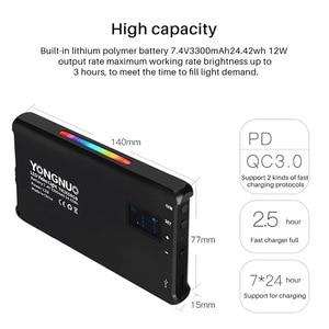 Image 3 - YONGNUO YN365 RGB LED 사진 스튜디오 조명 2500 k 8500 k 3300mAh 풀 컬러 충전식 배터리 램프 비디오 포켓 라이트