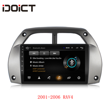 IDOICT Android 9.1 Car DVD Player GPS Navigation Multimedia For Toyota RAV4 2001-2006 radio car stereo BT WIFI image