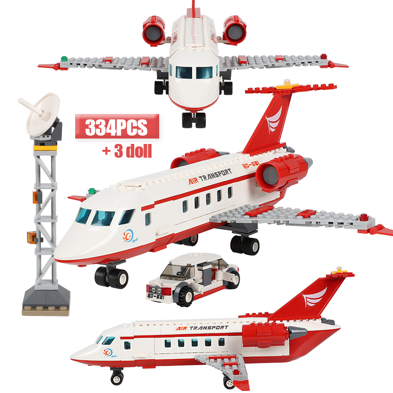 City Airplane Building Blocks Sets Bricks Air Transport Figures Model Series Technic Toys For Children image