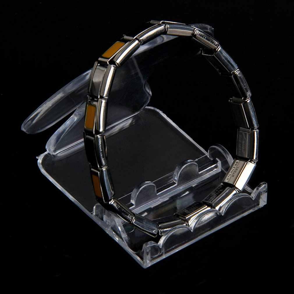 Soporte de exhibición de pulsera de Jade acrílico transparente reloj de pulsera organizador de joyas soporte de escaparate 4 tipos Envío Directo