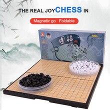 Magnétique aller jeu jeu d'échecs jeu d'échecs jouets léger noir blanc Chessman Puzzle jeu éléments de jeu