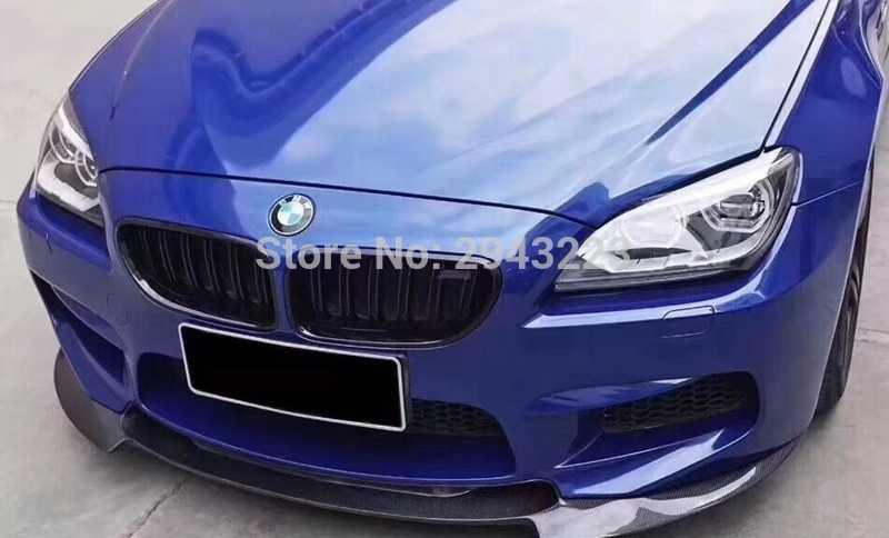 Estilo de coche de fibra de carbono frente alerón trasero Protector de parachoques para BMW F06 F12 F13 M parachoques 2012 de 2013 2014, 2015
