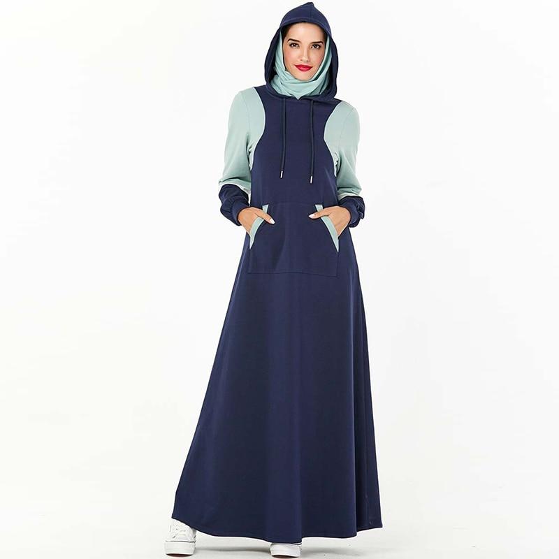 Plus Size Hoodie Abaya Dubai Turkish Hijab Muslim Dress Women Islamic Clothing Abayas Caftan Kaftan Dresses Omani Robe Kleding
