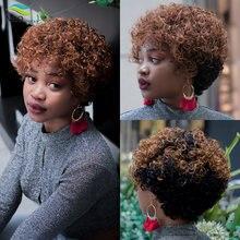 Парик из вьющихся человеческих волос pixie cut jerry парики