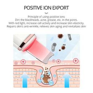 Image 3 - Глубокий аппарат для чистки лица ультразвуковой ионный скребок для кожи EMS пилинг лопатка очиститель пор лица