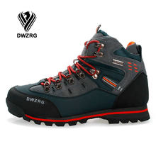DWZRG Outdoor Hiking Shoes Women Waterproof Non-slip Climb Mountain Trekking Mujer Size 40-46 Walking Shoes Men Hunting Shoes