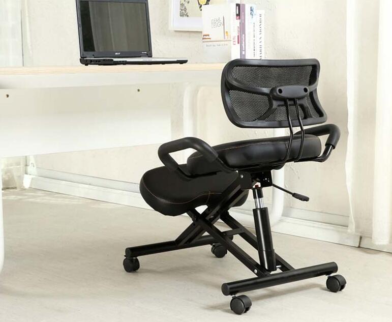 Ergonomsko oblikovan kolenski stol s hrbtnim in ročajem Pisarniški - Pohištvo - Fotografija 4