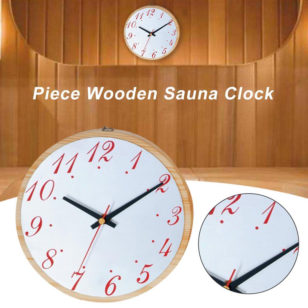 Sauna horloge murale en bois bain minuterie Sauna accessoires pour l'intérieur à l'extérieur