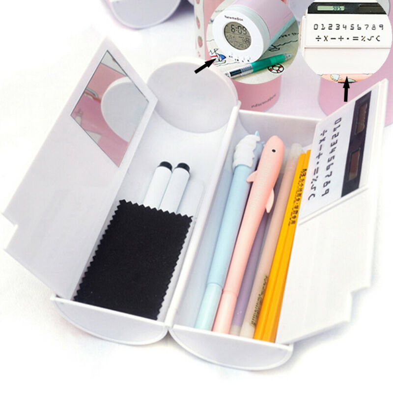 Pencil Case Organizer Creative Multi-Function Large-Capacity Pen Box With Mirror