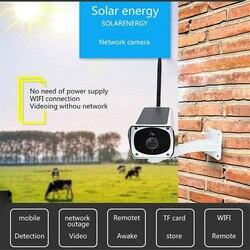 1080P Monitor domu kryty kamera bezprzewodowa WIFI bezprzewodowa ze stopu aluminium ze stopu aluminium łatwa instalacja wodoodporne zasilany energią słoneczną noc Vision HD w Kamery nadzoru od Bezpieczeństwo i ochrona na