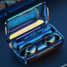 Earphone Sports Headsets Earbuds Wireless Bluetooth Charging-Box Waterproof with 2000mah